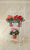 Подставка для цветов Мальва 4 H-118 см 58*37 см бел.