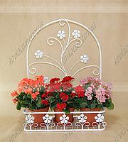 Подставка для цветов подвесная Мальва 02 бол. H-84 см 62*28 см бел.