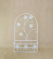 Подставка для цветов подвесная Мальва 02 мал. H-65 см 42*20 см бел.