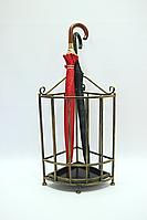 Зонтовница 5 (подставка под зонт) 65*30 см угловая черн.+зол. тон