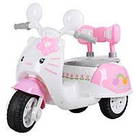 Детский мотоцикл для девочки на аккумуляторе HELLO KITTY 99118A-8