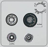 Кнопка нержавейка декоративная 16,5мм