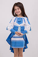 """Вышитый костюм для девочки """" ПАВЛИН """", фото 1"""