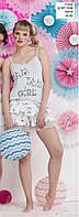 Пижама женская весна-лето майка+шорты вискоза, коттон Cossy by AQUA.