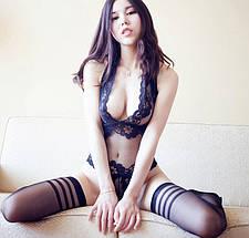 Сексуальное боди Irena с открытой спиной кружевное прозрачное, фото 2