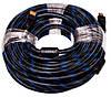 Видeo кабель PowerPlant HDMI - HDMI, 15m, позолоченные коннекторы, 1.4V, Nylon, Double ferrites, фото 2