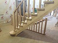 Деревянная лестница из бука Klobuk D077 прямая
