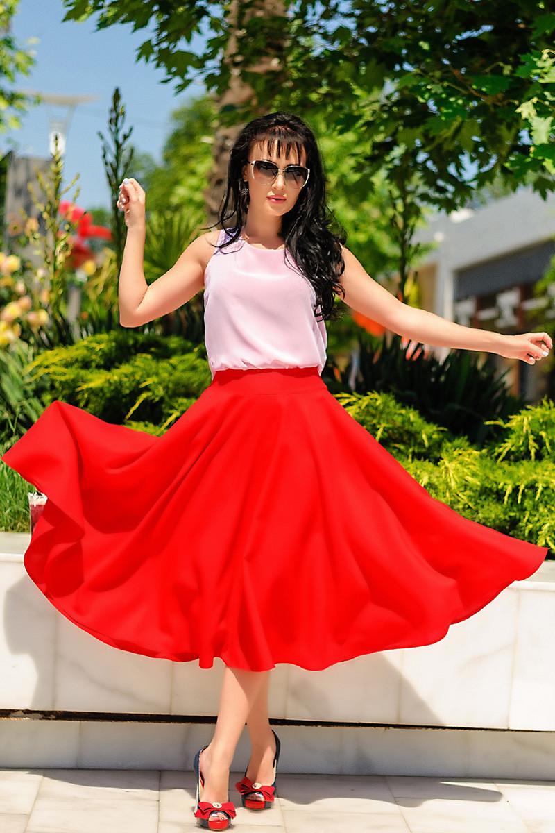 """Красная юбка """"Малага"""""""