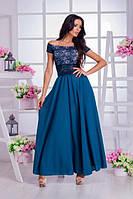 Нарядный костюм длинная юбка + гипюровый топ (2 цвета)