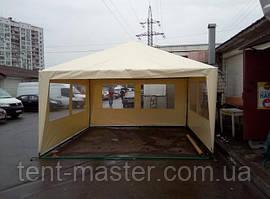 Торговая палатка из ПВХ с окнами из прозрачной ПВХ пленки