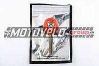 Ключ замка зажигания (заготовка) Yamaha JOG (с эмблемой, длинный, красный) KOMATCU