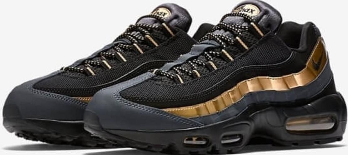 Мужские кроссовки найк Nike Air Max 95 Black Gold от магазина  tehnolyuks.prom. c2635b777f4