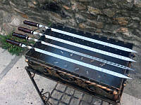 Шампур для люля-кебаба с деревянной ручкой (3мм, 90см, 1шт)