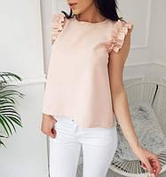 Блуза женская шифоновая без рукавов