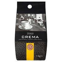 Кофе в зернах Tesco Crema Arabika 1 кг