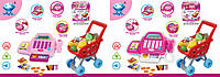 Игровой набор Магазин 66051, супермаркет с кассой, тележкой и товарами, игровой набор супермаркет