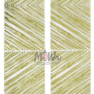 Наклейка-стикер 3D-Nail 2шт YK-128 золото полосы, фото 2