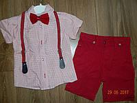Летние нарядные костюмы для мальчика с подтяжками на 3 года, на 7 лет