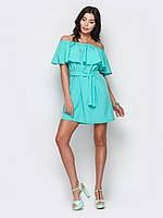 Летнее женское модное платье-мини с поясом р.44,46