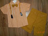 Летние нарядные костюмы для мальчика с подтяжками на 2 и 3 года