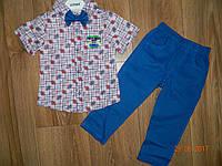 Нарядные костюмы для мальчиков с брюками и рубашкой с коротким рукавом на рост 92 см, 98 см