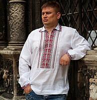 Вишита сорочка (100% льон) - 44 ворот (XXL)