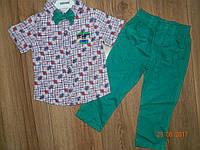Нарядные костюмы для мальчика с рубашкой с коротким рукавом на рост 92 см, 98 см, 104 см