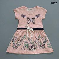 """Летнее платье """"Бабочки"""" для девочки. 1-2;  3-4;  7-8 лет"""