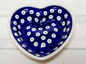Сердце керамическая форма маленькая Polka Dot, фото 3