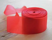 Лента шелковая красная 5см