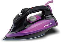 Электрический утюг Vitalex VT-1005, электрический утюг для дома, мощный утюг 2200 Вт, утюг с подачей пара