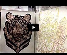Видео аппликаций Рисунки из страз Сравнение страз