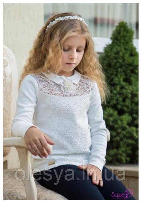 Гольф нарядный на девочку Самира Размер 152 Белый Молочный цвет