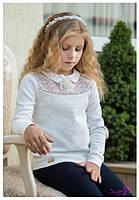 Гольф нарядный на девочку Самира Размеры 122- 152 Белый Молочный цвет