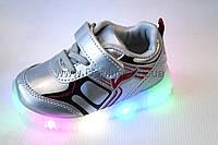Кроссовки детские cветящиеся (22-27)  Y.TOP-LED-17193-21