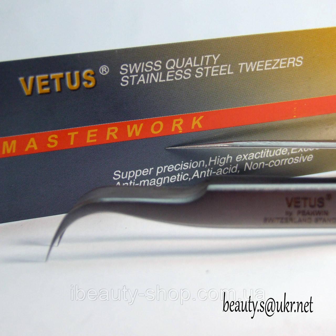 Пинцеты Vetus ST-15, изогнутый,Ветус