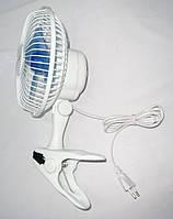 """Настольный вентилятор АЛЬФАСОНИК 6"""", Вентилятор на прищепке, Мини вентилятор, Вентилятор для дома"""