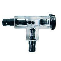 Двойной переходник с краником под стандартный компрессорный шланг (4-6мм)