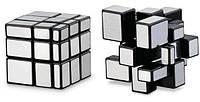 Зеркальный кубик Рубика серебро
