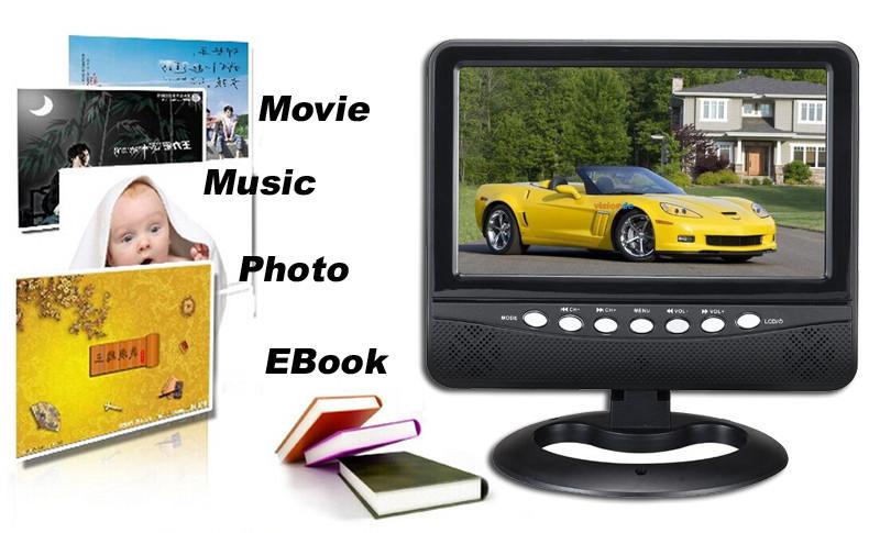Портативный телевизор UKC TV 901 T2 экран 9,5 USB+SD