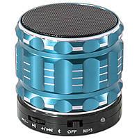Колонка BL Lesko S-28 синяя с поддержкой карты памяти и функцией Bluetooth-спикера в металлическом корпусе mp3
