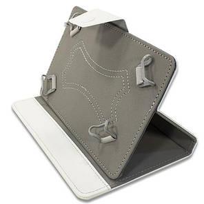 """Чехол - книжка -  подставка универсальный на скобах для планшетов Samsung Lenovo Xiaomi 8 / 9 """" (Белый), фото 2"""
