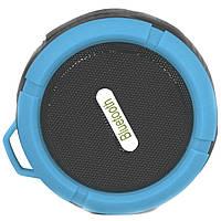 Колонка BL C6 Lesko Bluetooth синяя mp3 microUSB влагоустойчивая с креплением присоской музыкальная microSD