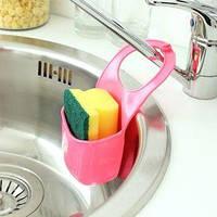 Подвесной силиконовый органайзер для кухонных принадлежностей (Розовый)