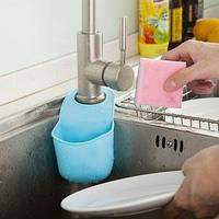 Подвесной силиконовый органайзер для кухонных принадлежностей (Голубой)