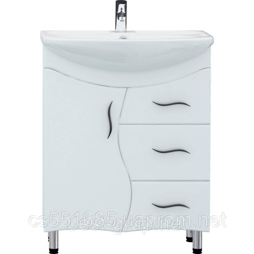 Т9/v. Омега-65 с умывальником Омега (65см). Тумба для ванной Galaxy (Галкси)