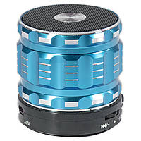 Мини колонка Lesko BL S28 синяя с микрофоном беспроводная bluetooth speaker USB AUX microSD player для музыки