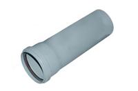 Труба раструбная ПВХ Wavin с уплотнительным кольцом для внутренней канализации серая 75х2,5х500