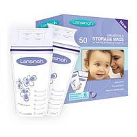Пакеты для хранения и замораживания грудного молока (50 шт., из полиэтилена) ТМ Lansinoh 40055