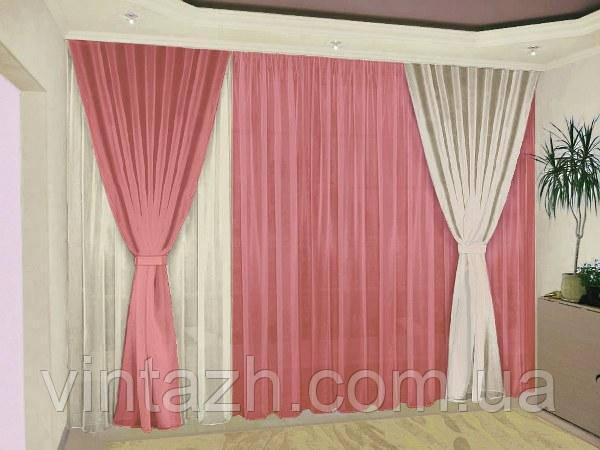 Комплект готовых штор в гостиную в Украине